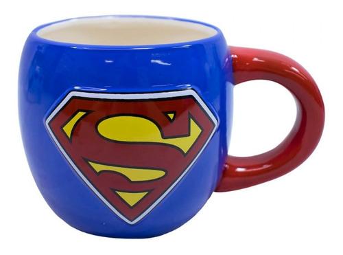Caneca De Porcelana Grande Dc Super Heróis Super Homem 600ml