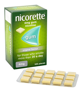 Nicorette Gum 4 Mg 105 Chicles Sabor Original Dejar Fumar