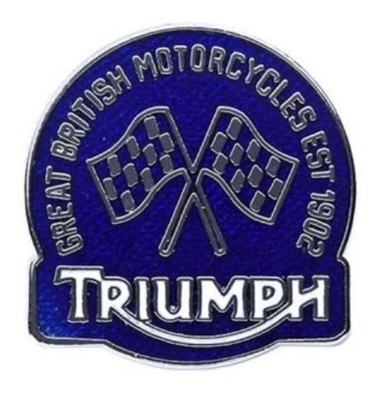 Boton Triumph Est 1902 Mpbs12159