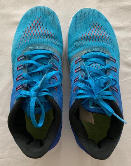 Zapatillas Gym Azul + Celeste. Talle 38.5 (us 7,5)