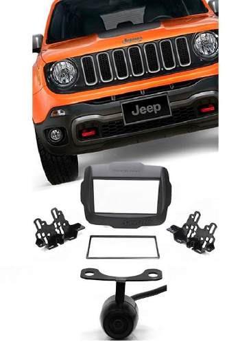 Moldura Painel Dvd 2 Din Multimidia Jeep Renegade+câmera Ré