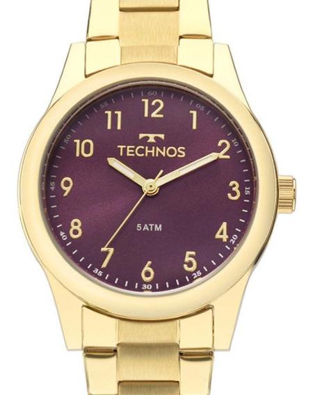 Relógio Technos Dourado Feminino Elegance 2035mkm/4g + Nota