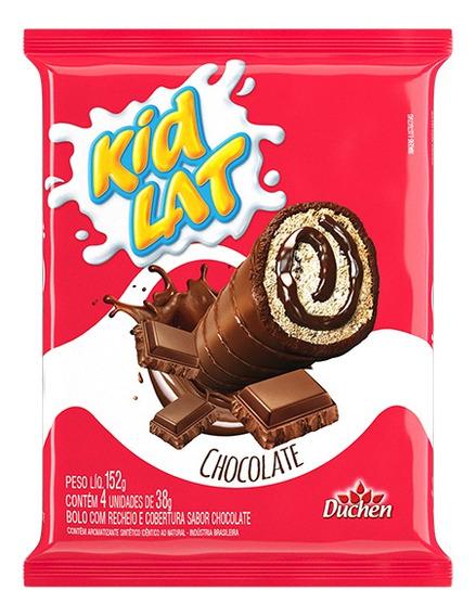 Bolinho Kidlat 5 Pacotes De 152g - Recheio Sabor Chocolate