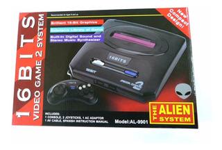 Family Consola Aliens 16 Bits Sega Rojo Incluye Juegos Genes
