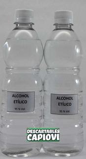 Alcohol Etílico Al 96% De 500 Cc