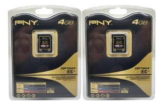 Cartao Memoria Pny 4 Gb Sd Hc P-sdhc4g4-fs Ultra High Kit 2