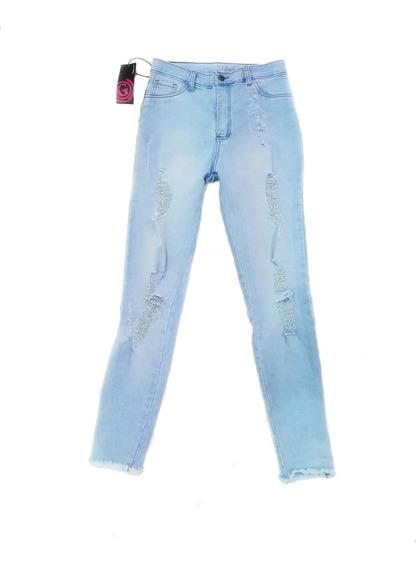 Pantalon Gigolo Jeans Azul Marino Juvenil Dama Mayor Detal