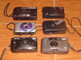 Lote 6 Câmeras Fotográficas Para Restauro Ou Troca De Peças.