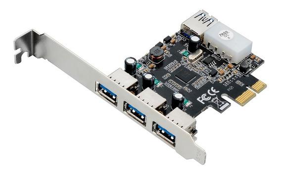 Placa Pci Ga130 Multilaser Express 4 Entradas Usb 3.0