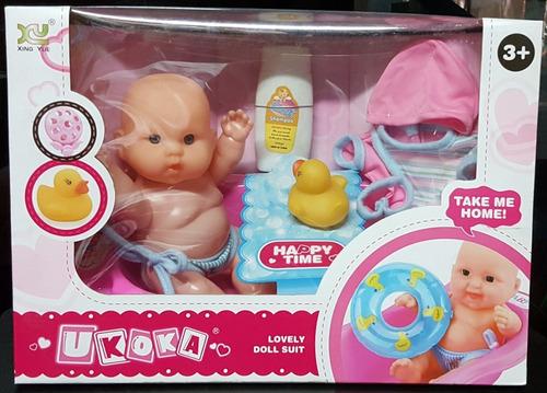 Muñeca Para Niñas Con Bañera Y Accesorios Tienda Cod 614