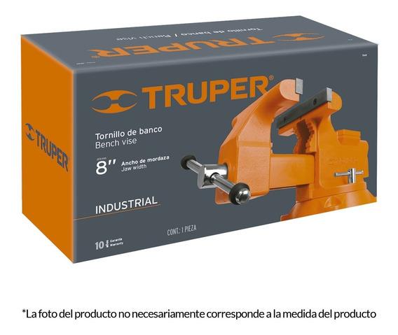 Tornillo De Banco Industrial 8 Pulgadas Acero Truper 18595