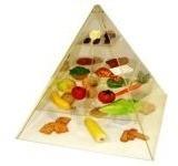 Pirâmide De Acrílico 3 D Com Os Alimentos 50x50x60cm