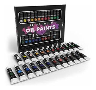 Set 24 Pinturas Para Oleo Profesionales Castle Art Supplies