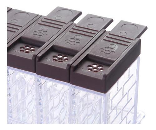 Vertical condimento Caja de m/últiples Capas Accesorios de Cocina Creativa LJXLXY Tanque de Almacenamiento la Botella del condimento hogares m/últiples condimento Tarro Caja giratoria condimento