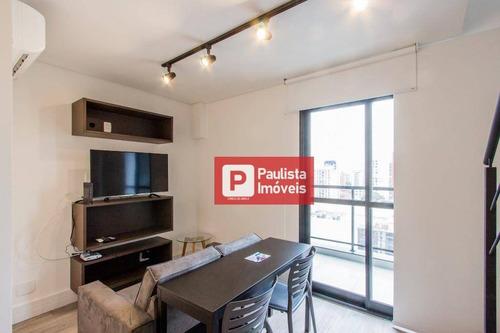 Apartamento Com 1 Dormitório Para Alugar, 27 M²  - Vila Olímpia - São Paulo/sp - Ap30544