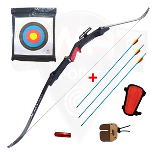 Arco Recurvo Prana Td4 Olimpico 3 Flechas Protect Conte Cera