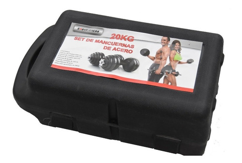 Set De Mancuernas 20kg Con Caja Easyfitness Fierro Forjado
