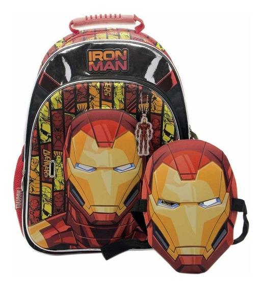 Mochila Iron Man Con Mascara 16 Pulgadas Cresko