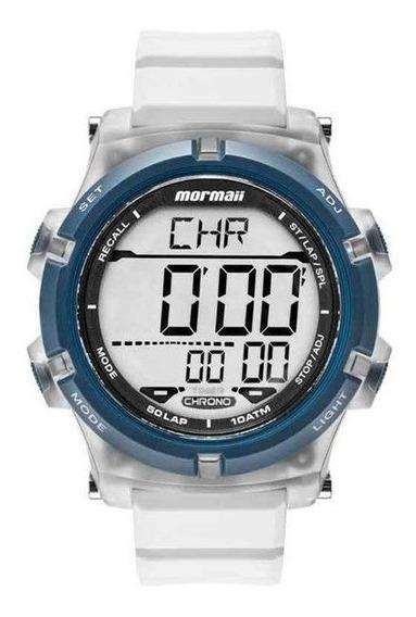 Relógio Mormaii Masculino Acqua Azul/branco Mo1192aa/8b