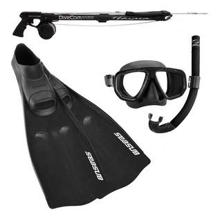 Kit Pesca Sub Arpao Nadadeira Mascara Snorkel Frete Gratis