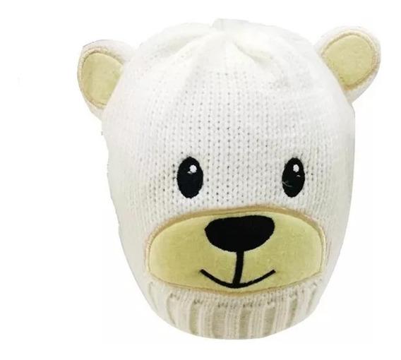 Touca Gorro De Lã Ursinho Infantil Crianças Inverno