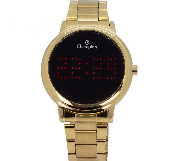 Relógio Champion Feminino Dourado Digital Original Garantia