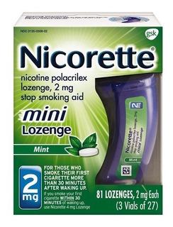Menta Nicorette Mini Pastillas De Nicotina Mint 2mg