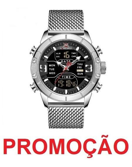 Relógio Naviforce 9153 Masculino Digital Militar Sport Luxo