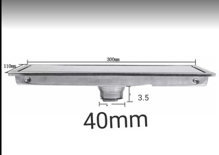 Coladera Lineal Doble Vista Acero 30 Cm