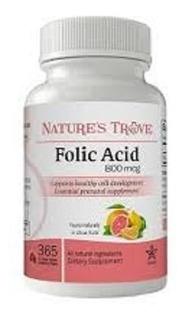 Acido Folico 800 Mcg 365 Tab Útero Saudável Importado