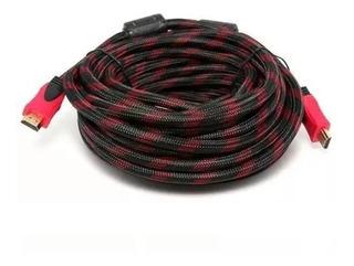 Cable Hdmi 20 Metros Mts Full Hd Blindado Y Enmallado