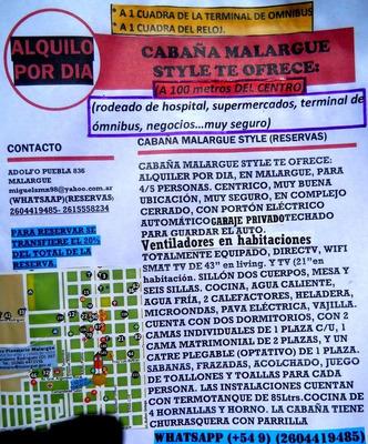 Alquiler Por Dia En Malargue....a 100 Mtrs Del Centro