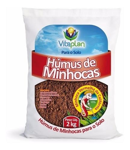 Imagem 1 de 1 de Fertilizante Orgânico Húmus De Minhoca Vitaplan 2kg