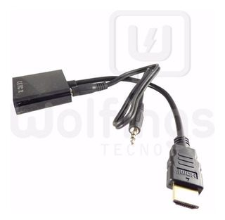 Cable Adaptador Conversor Hdmi A Vga + Plug 3,5 Mm Aud Y Vid