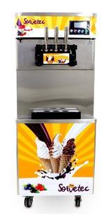 Máquina De Sorvete Expresso 3 Bicos Piso Açaí Ou Frozen 825b
