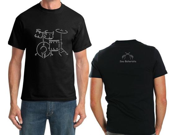 Camiseta Sou Baterista Masculino