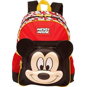 Kit Mochila Escolar Costas Média E Estojo Mickey Mouse Sesti