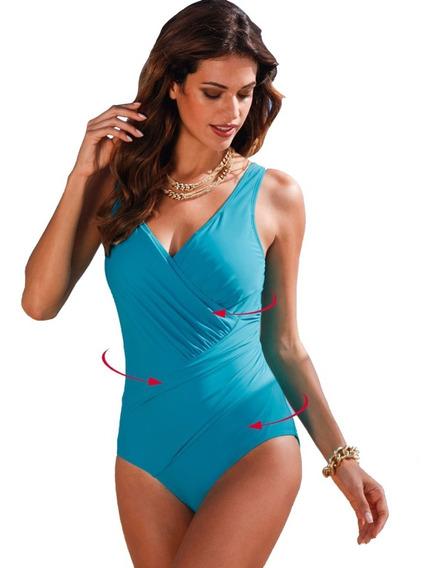 Traje De Baño Retro Monokini Cruzado Tallas Extras Bikini