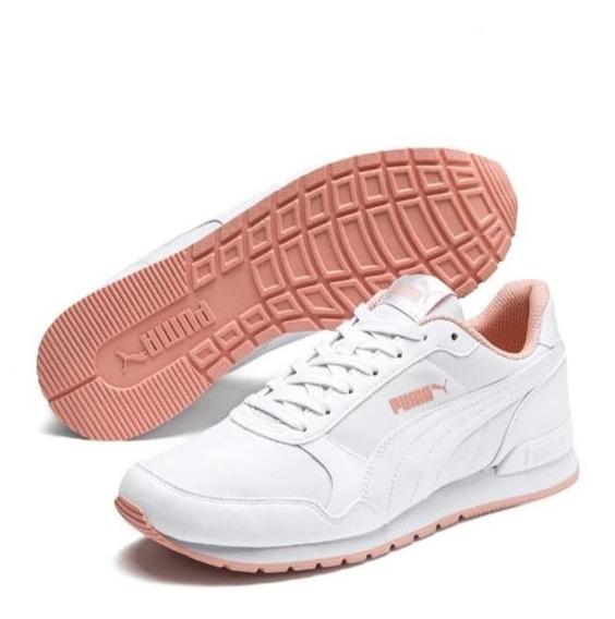 Zapatillas Puma Runner V2 Nl White Peach Mujer Env Gratis