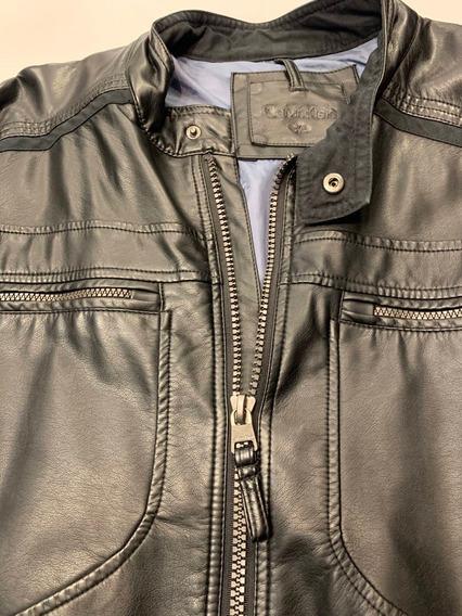 Jaqueta De Couro Calvin Klein Original Xg