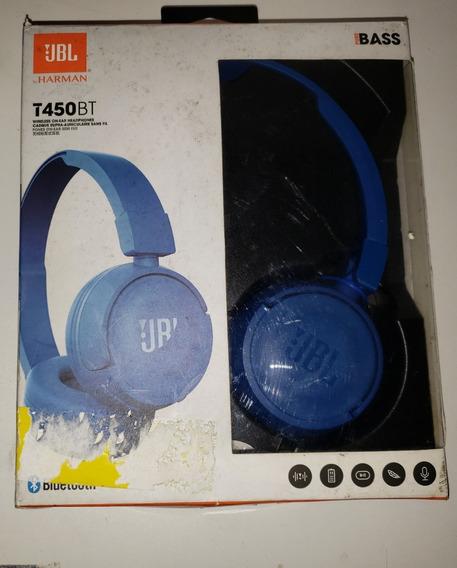 Fone De Ouvido Jbl T450 Azul (vitrine)