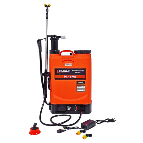 Pulverizador Costal 16l A Bateria 12v Pc16mbtk Tekna