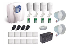 Kit Alarme Residencial Ou Comercial C/ Sensor Sem Fio Genno.