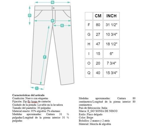 E Go Sonia De Nisco Pantalones Talla 30 Mujer Cintura 80 Cm Mercado Libre