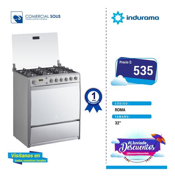 Indurama Cocina A Gas Roma 6 Quemadores 32 Pulgadas