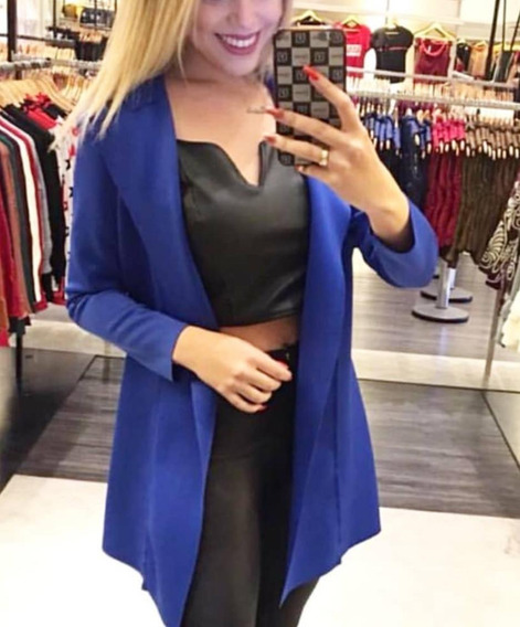 Blazer Maxi Casaquinho Sobretudo Kimono Neopreme De Fabrica