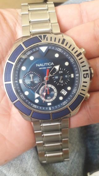 Relógio Náutica Masculino Aço Napptr004