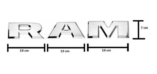 Imagem 1 de 2 de Emblema Ram Tampa Camionete Dodge  - Cromado