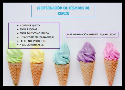 Vende Helados, Negocio Rentable