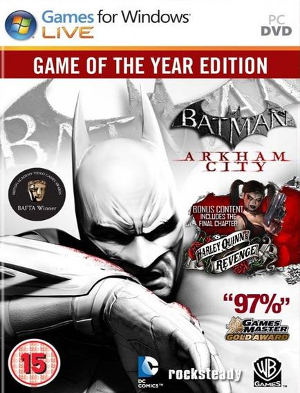 Batman Arkham City Goty - Pc (steam Key)